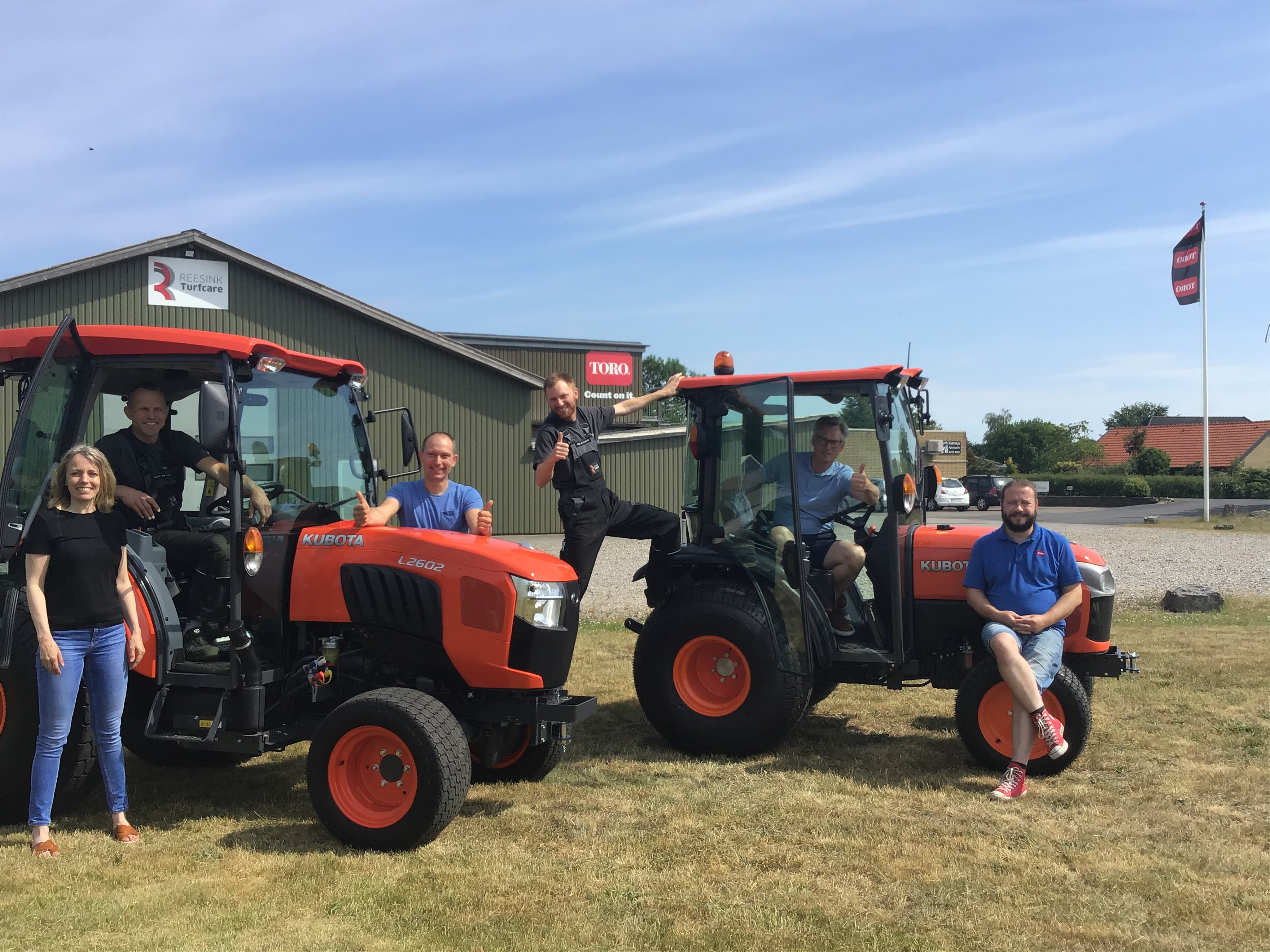 Kubota traktorer til demo hos Reesink Turfcare